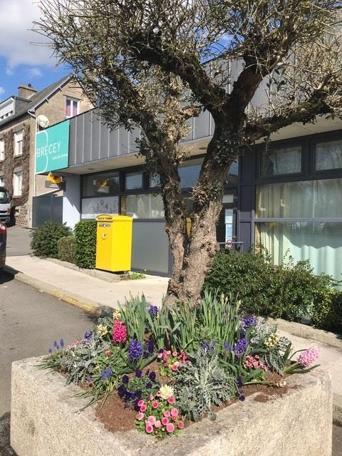 bloc de fleurs à Brécey